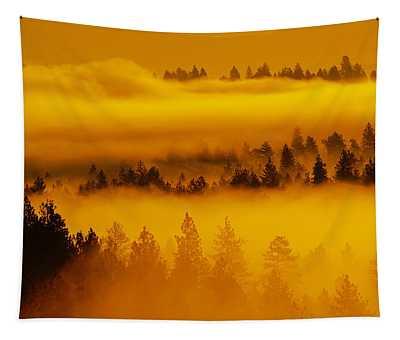 River Fog Rising Tapestry