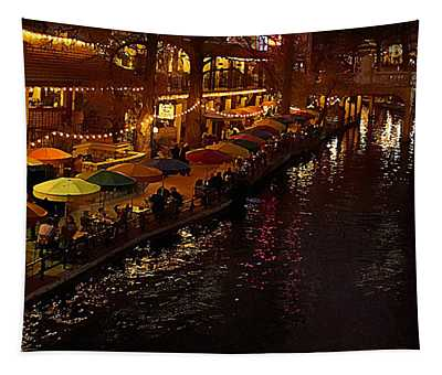 Riverwalk Night Tapestry