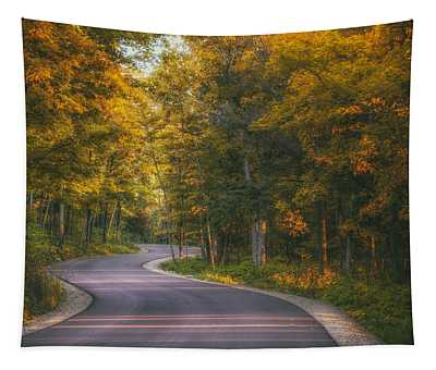 Road To Cave Point Tapestry