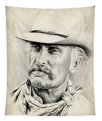 Robert Duvall Sepia Scratch Tapestry