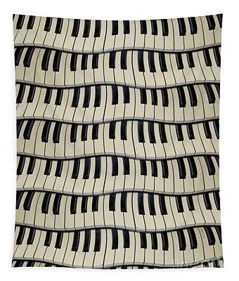 Rock And Roll Piano Keys Tapestry