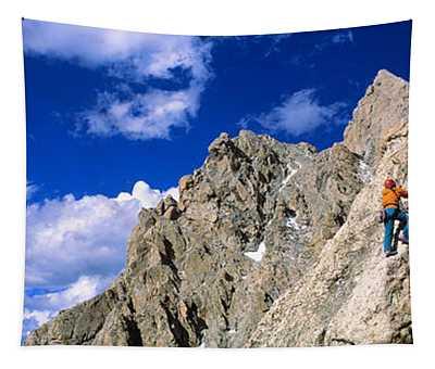 Rock Climber Grand Teton National Park Tapestry