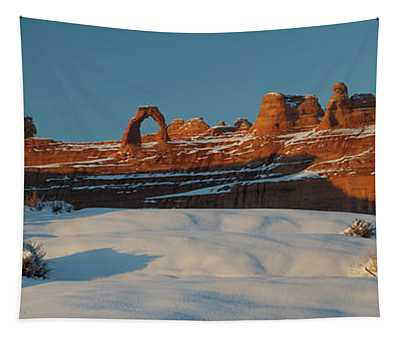 Rock Formations In Winter, Delicate Tapestry
