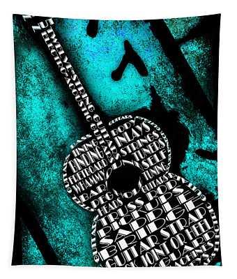 Rockin Guitar In Teal Tapestry