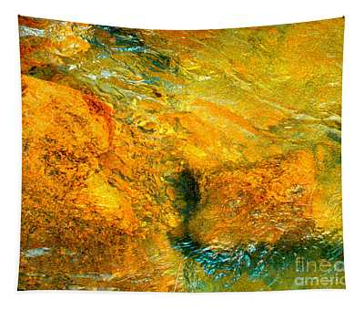 Rocks Under The Stream By Christopher Shellhammer Tapestry