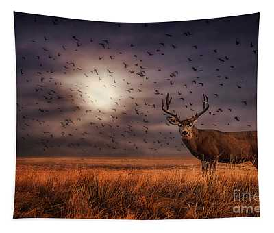 Rocky Mountain Arsenal Deer And Birds Tapestry