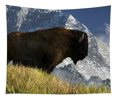 Rocky Mountain Buffalo Tapestry