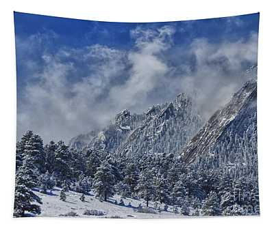 Rocky Mountain Dusting Of Snow Boulder Colorado Tapestry