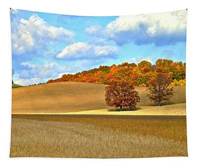 Rolling Hills Straight Shadows Tapestry