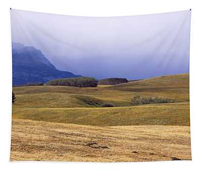 Rolling Landscape With Mountains Tapestry