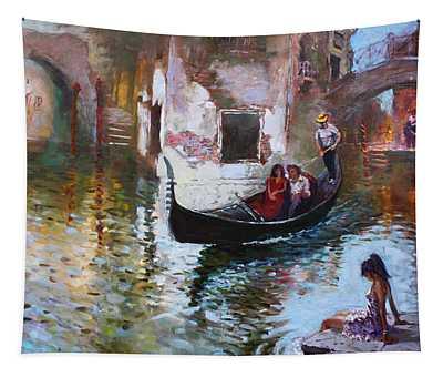 Romance In Venice 2013 Tapestry