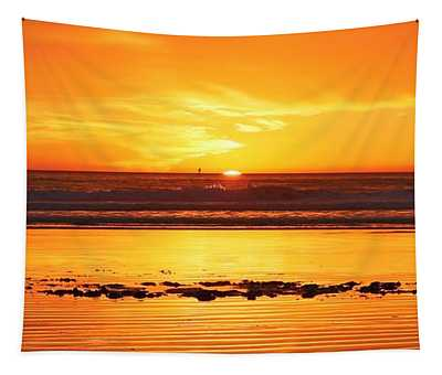 Romantic Sunset  Tapestry