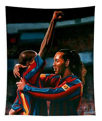 Ronaldinho And Eto'o Tapestry