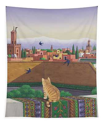 Rooftops In Marrakesh Tapestry