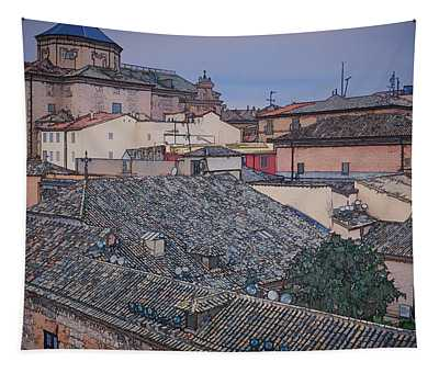 Rooftops Of Toledo Tapestry