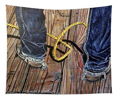 Roping Boots Tapestry