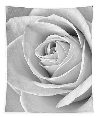 Rose Black And White Tapestry
