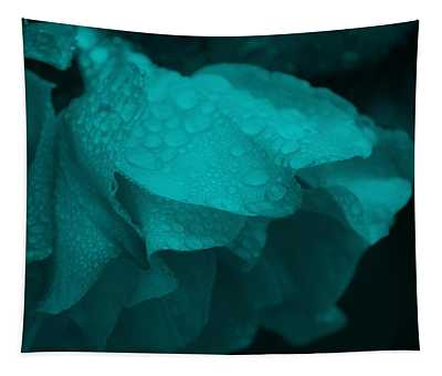 Rose In Turquoise Tapestry