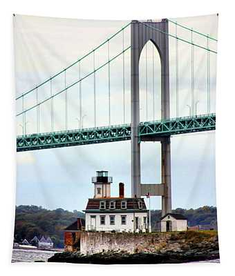 Rose Island Lighthouse Tapestry