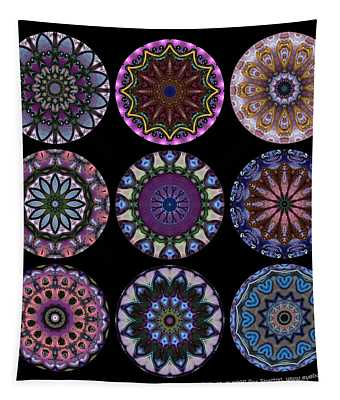 Rose Window Quilt 1 Tapestry