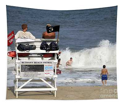 Rough Water At Bethany Beach In Delaware  Tapestry