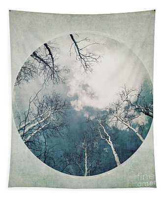 round treetops III Tapestry