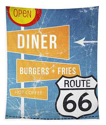 Route 66 Diner Tapestry