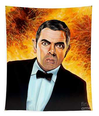 Rowan Atkinson Alias Johnny English Tapestry