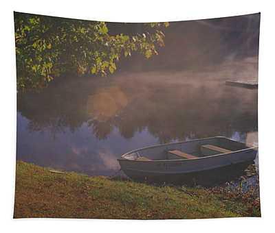 Rowboat Lake Nh Tapestry
