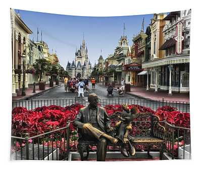Roy And Minnie Mouse Walt Disney World Tapestry