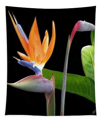 Royal Beauty II - Bird Of Paradise Tapestry