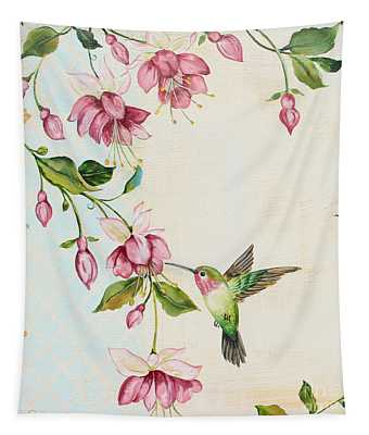 Rubies Among The Fuchsias-a Tapestry