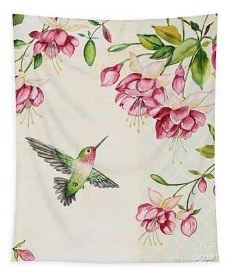 Rubies Among The Fuchsias-b Tapestry