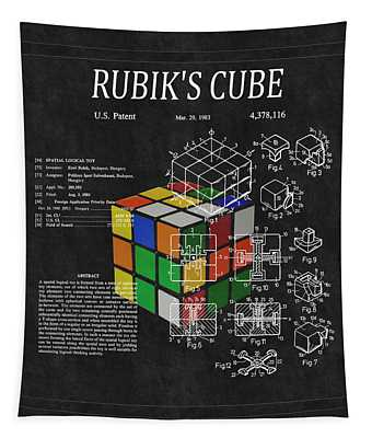 Rubik's Cube Patent 3 Tapestry