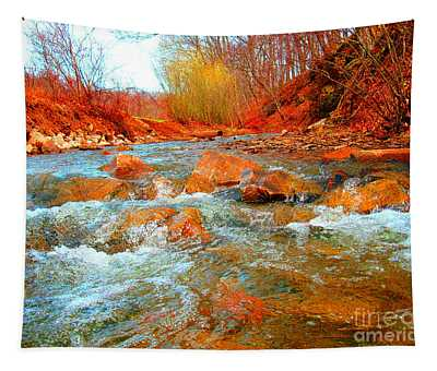 Running Creek 2 By Christopher Shellhammer Tapestry