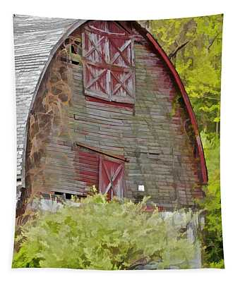 Rustic Red Barn II Tapestry