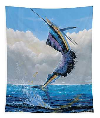 Sailfish Dance Off0054 Tapestry