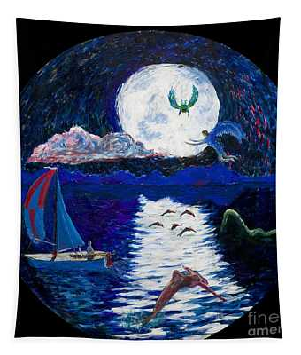 Sailing In The Moonlight Tapestry