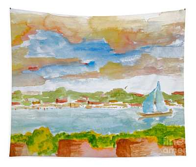 Sailing On The River Tapestry