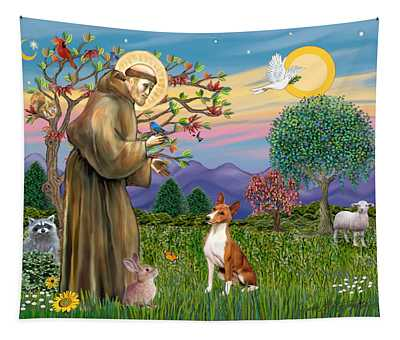 Saint Francis Blesses A Basenji Tapestry