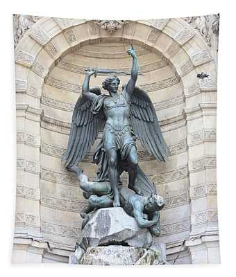 Saint Michael The Archangel In Paris Tapestry
