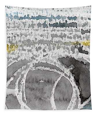 Saltwater- Abstract Painting Tapestry