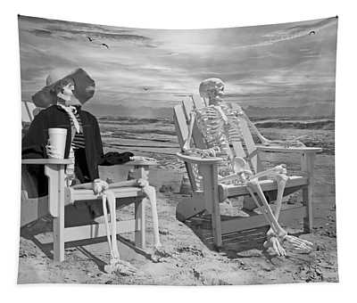Sam Exchange Old Tales With A Friend Tapestry