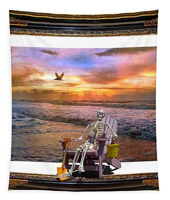 Sam Hangs Out With The Sunrise Tapestry