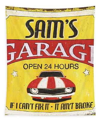 Sam's Garage Tapestry