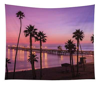 San Clemente Sunset Meditation Tapestry