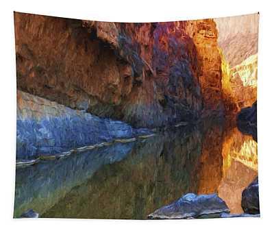 San Elena Canyon Painted Tapestry