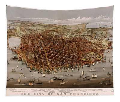 San Francisco 1877 Tapestry