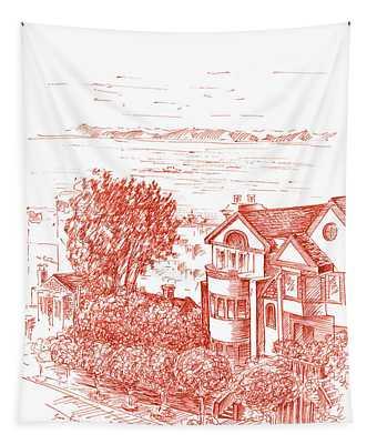 San Francisco Leavenworth Street Bay View Tapestry