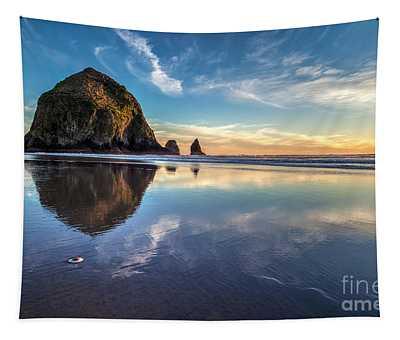 Sand Dollar Sunset Repose Tapestry